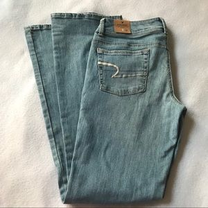 NWT American Eagle Kick Boot Stretch Blue Jeans